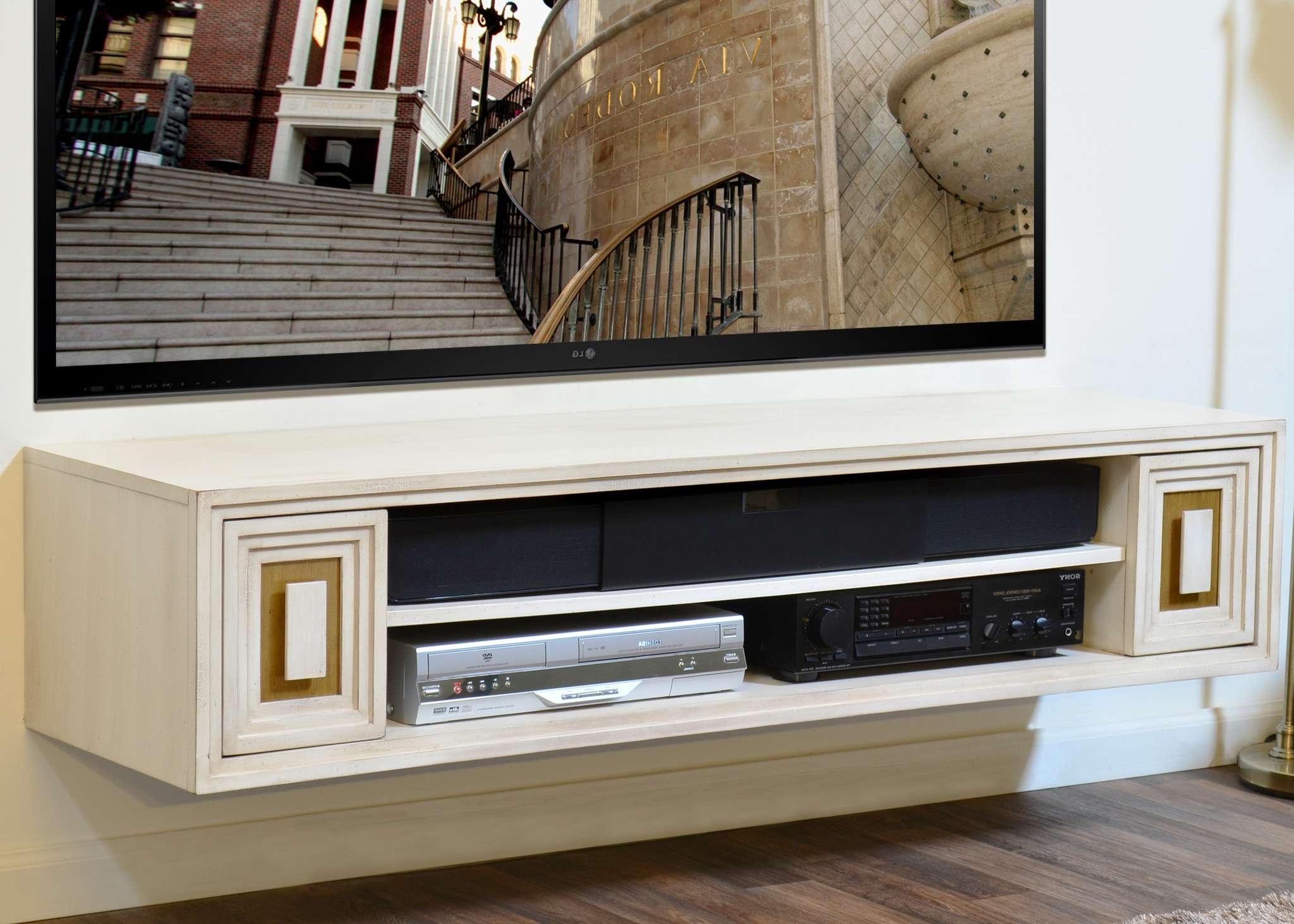 Breathtaking Ashley Furniture Idonburg Medium Tv Stand Along With With Gold Tv Cabinets (View 2 of 20)