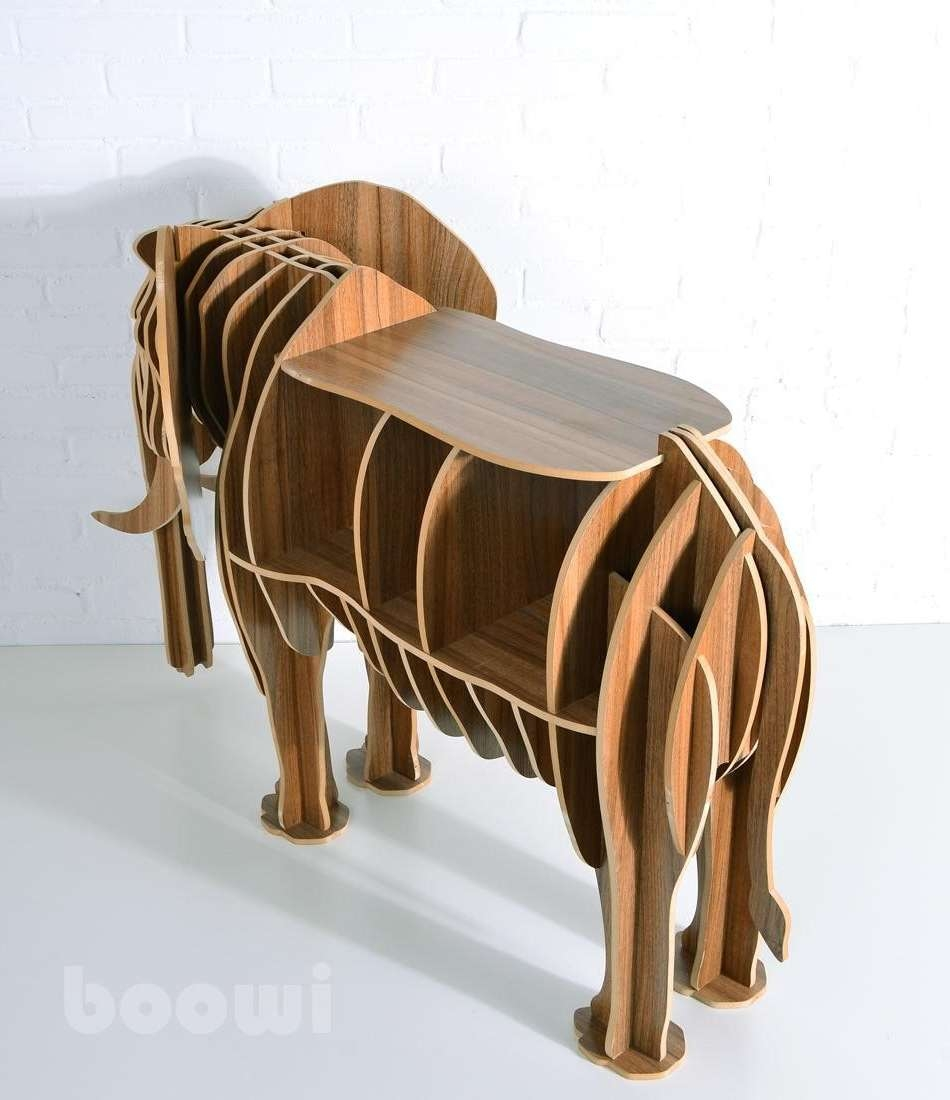 Brown Antique Oak Elephant Coffee Table Designs To Complete Living With Well Known Elephant Coffee Tables (View 3 of 20)