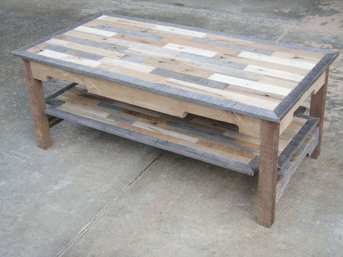 Brown Rectangular Rustic Wood Diy Coffee Table Plans With Shelf With Well Liked Rustic Wood Diy Coffee Tables (View 4 of 20)