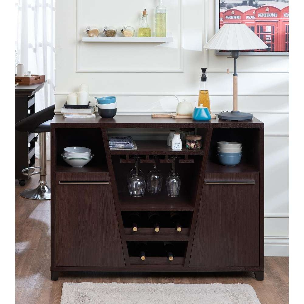Brown – Sideboards & Buffets – Kitchen & Dining Room Furniture Within Espresso Sideboards (View 13 of 20)