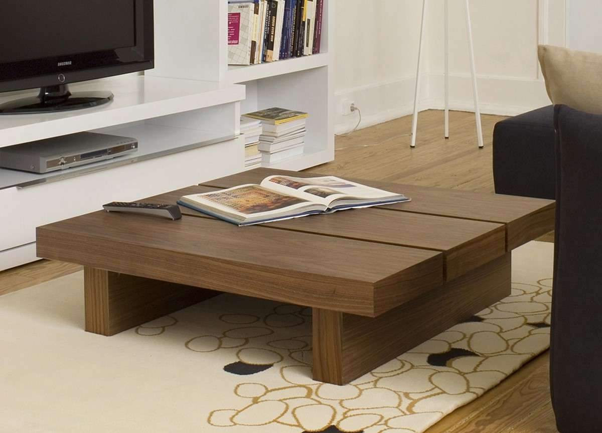 Brown Square Traditional Wooden Short Coffee Table Design Ideas Pertaining To Best And Newest Short Coffee Tables (View 2 of 20)