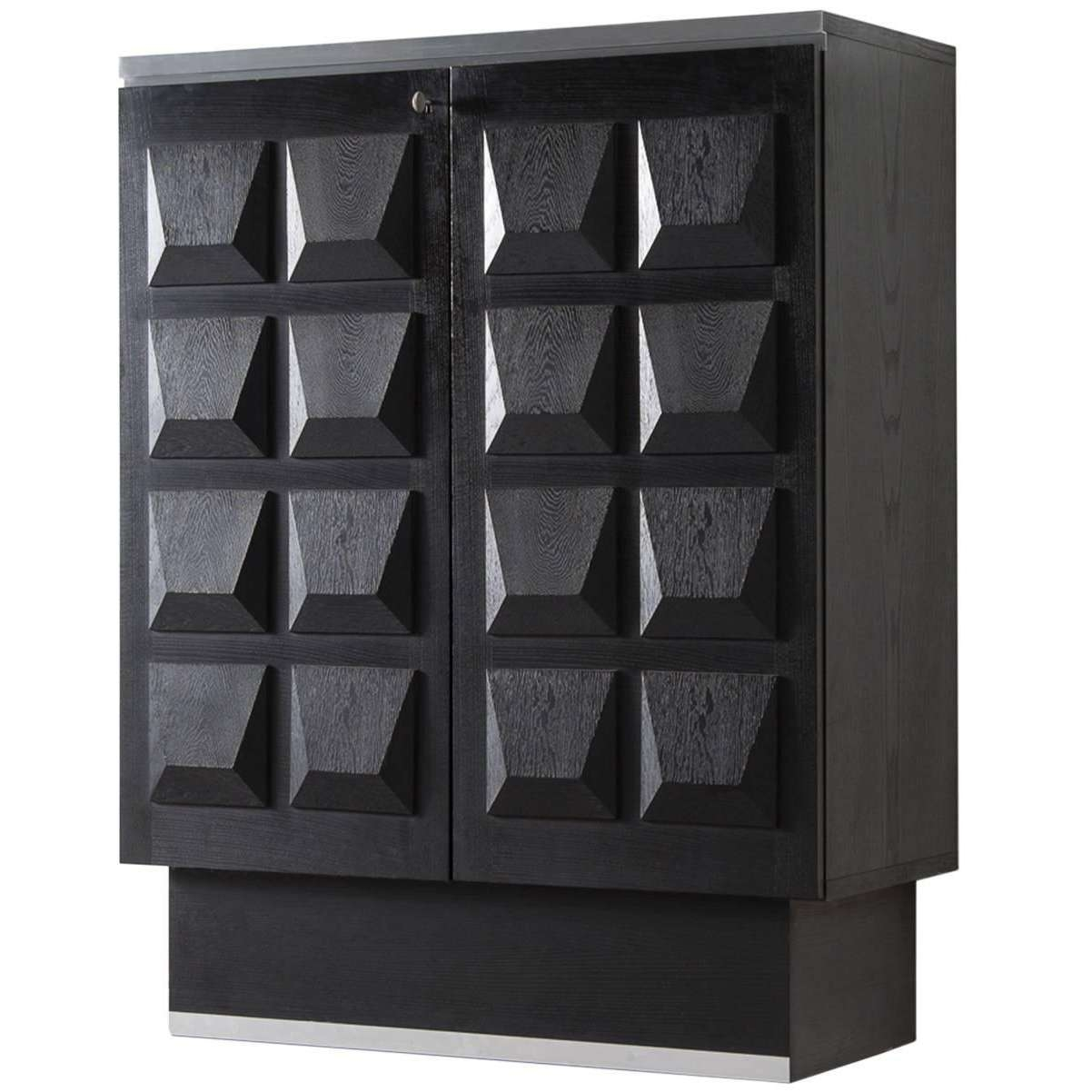 Brutalist Highboard In Black Ebonized Oak For Sale At 1Stdibs Pertaining To Black Sideboards (View 8 of 20)