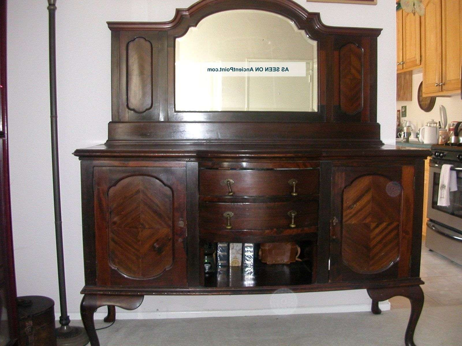 Buffet Antique Furniture – Home Design Ideas And Pictures With Regard To Antique Sideboards With Mirror (View 6 of 20)