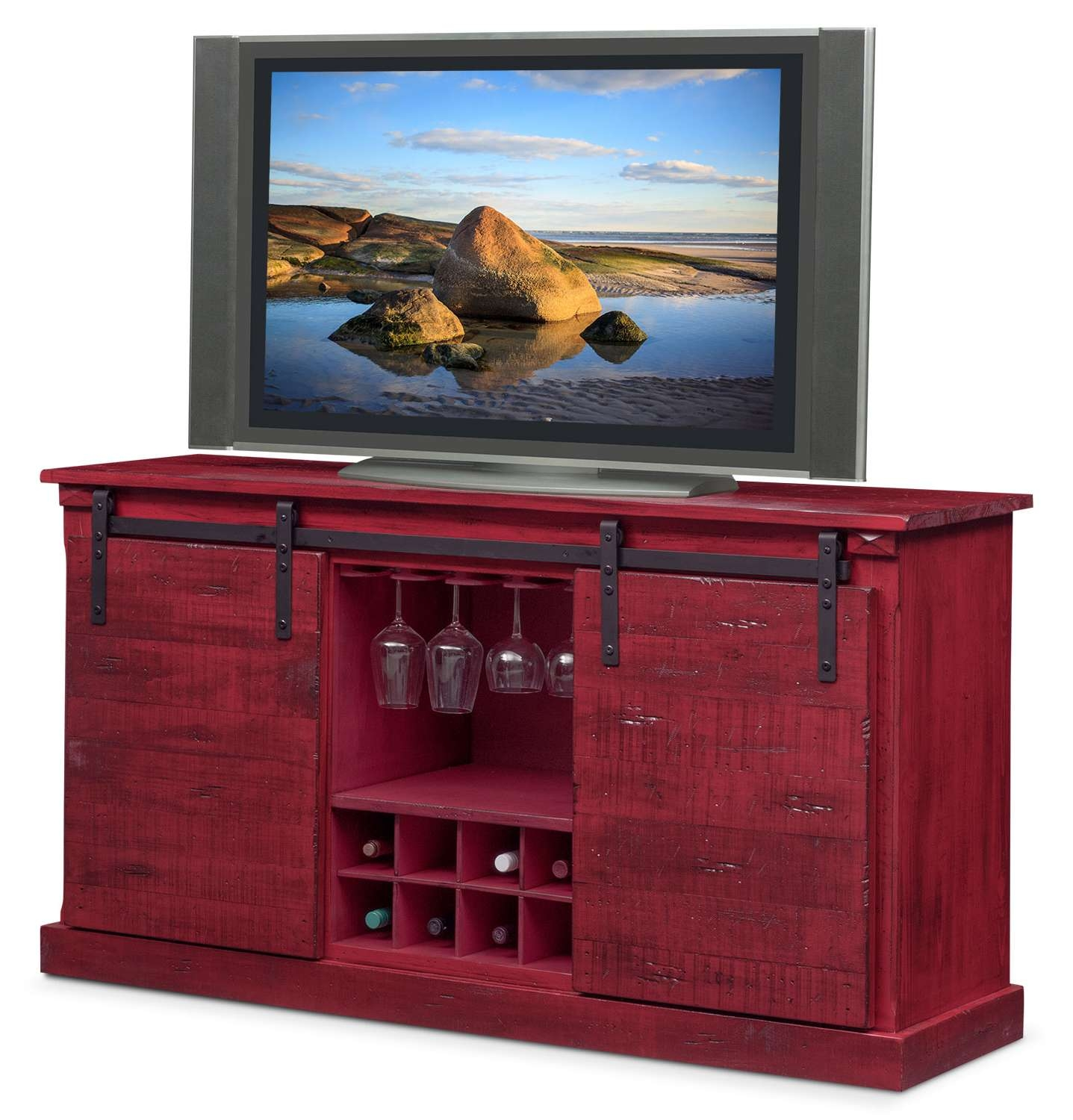 Buffet & Sideboard Cabinets | Value City Furniture And Mattresses In Red Sideboards Buffets (View 15 of 20)