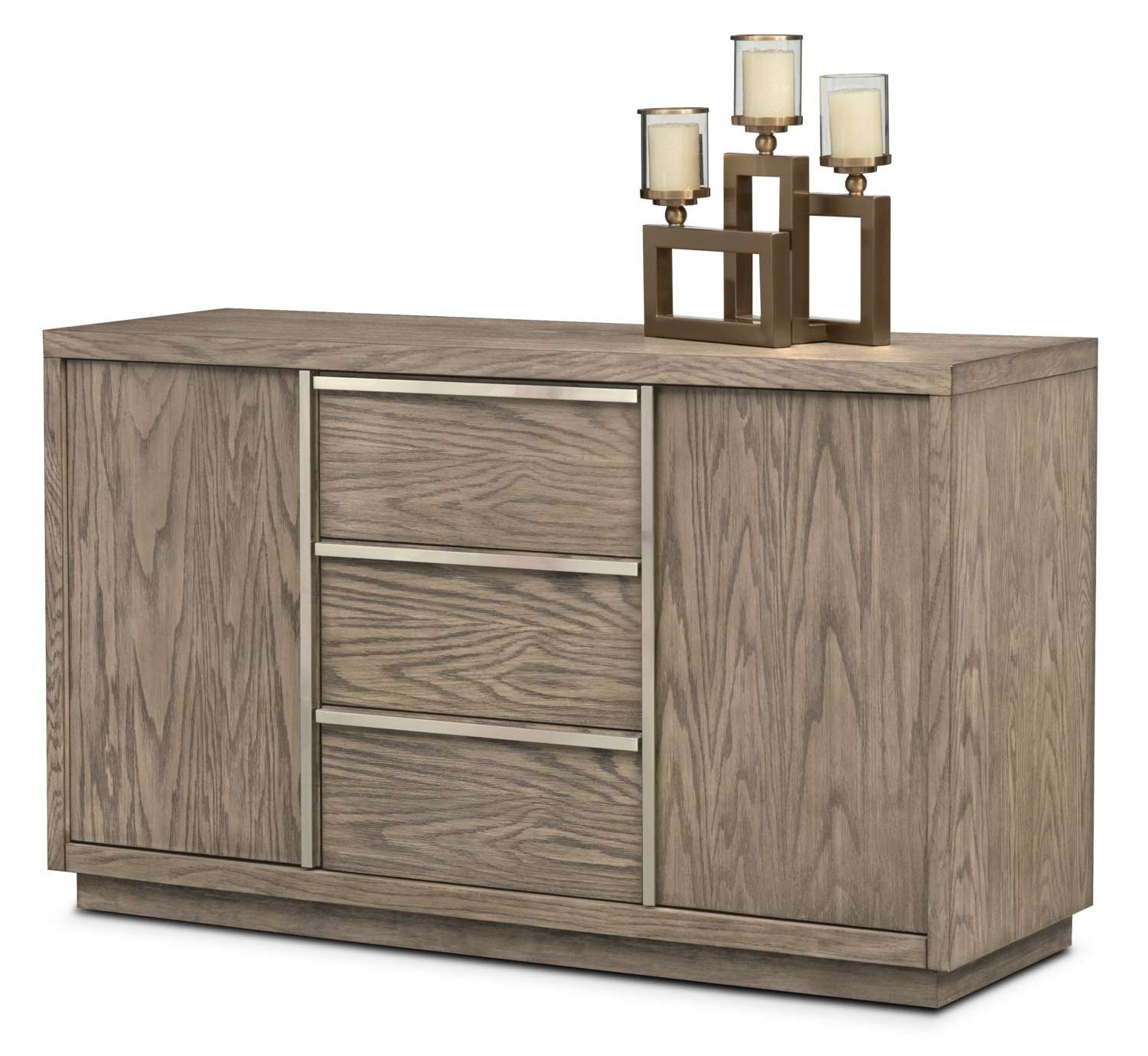 Buffet & Sideboard Cabinets | Value City Furniture And Mattresses Within Small Mirrored Sideboards (View 8 of 20)