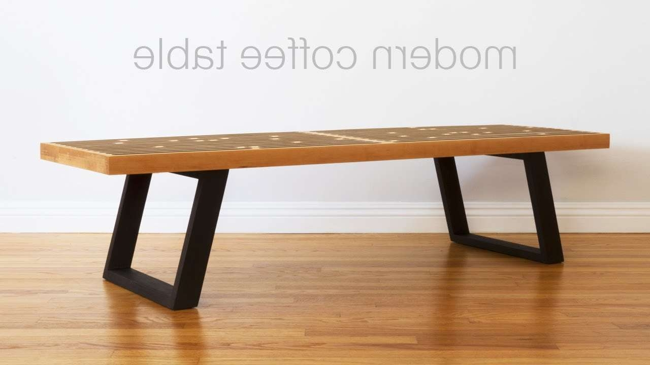 Build A Mid Century Modern Coffee Table / Nelson Bench Throughout Fashionable Nelson Coffee Tables (View 3 of 20)