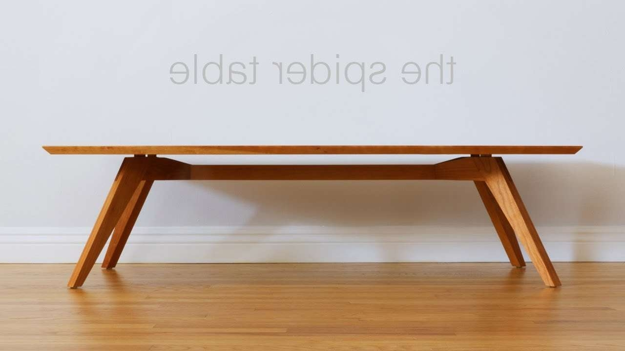 Build A Mid Century Modern Coffee Table – Woodworking – Youtube Throughout Favorite Modern Coffee Table (View 7 of 20)