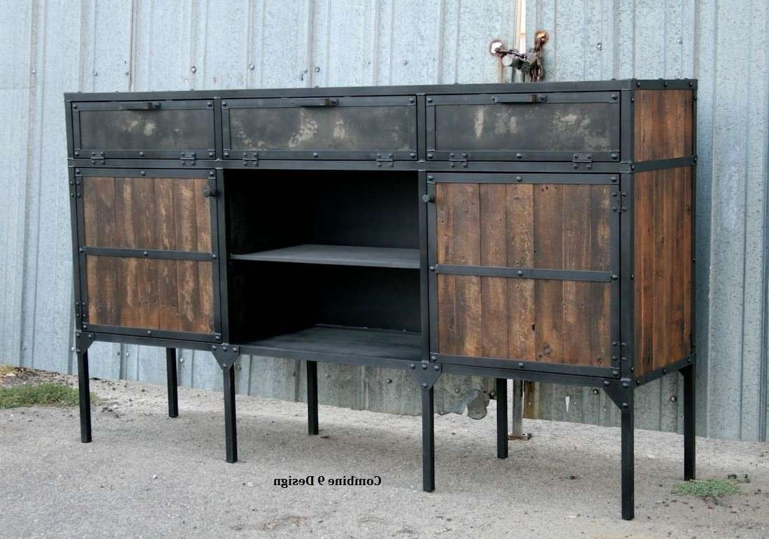 Buy A Custom Buffet/hutch – Vintage Industrial/mid Century Modern Throughout Industrial Sideboards (View 19 of 20)