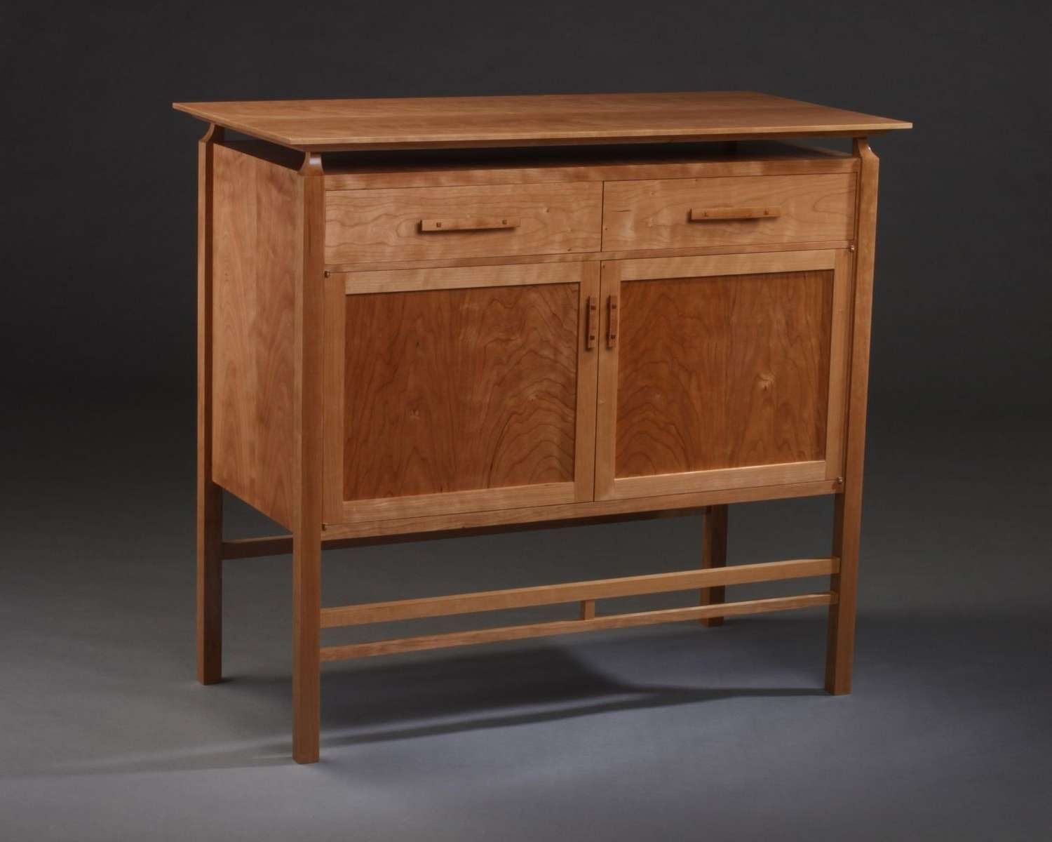 Buy A Custom Modern Mission Cherry Cabinet With Floating Top, Made Within Mission Style Sideboards (View 6 of 20)