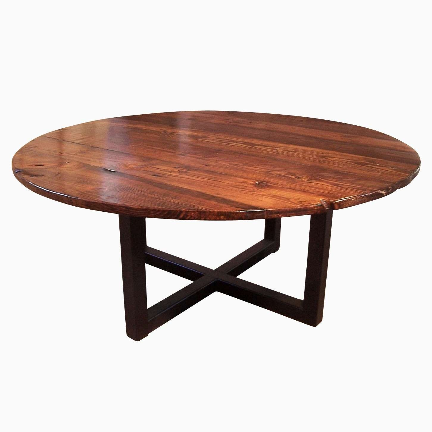 Buy A Hand Crafted Large Round Coffee Table With Industrial Metal Throughout Most Recently Released Industrial Round Coffee Tables (View 2 of 20)