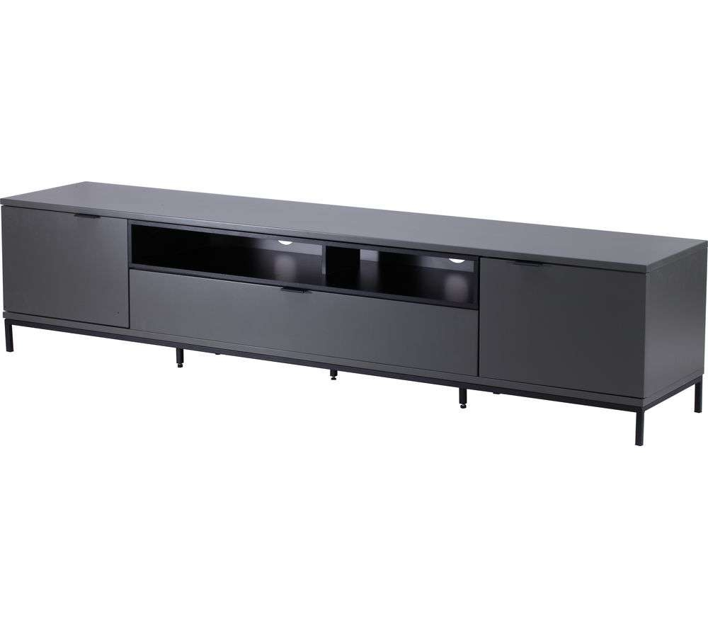 Buy Alphason Chaplin 2000 Tv Stand – Charcoal | Free Delivery | Currys Regarding Alphason Tv Cabinets (View 19 of 20)