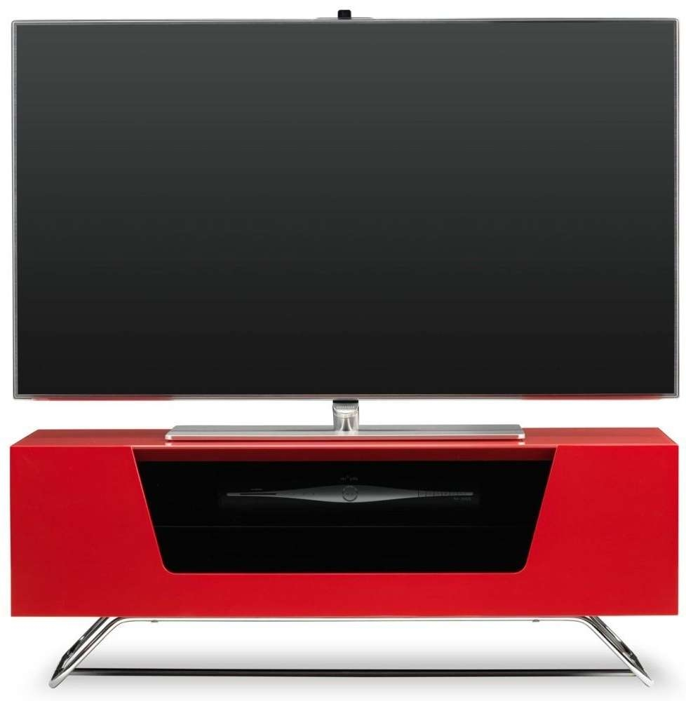 Buy Alphason Chromium 2 Red Tv Cabinet – Cro2 1000Cb Red Online Throughout Red Tv Cabinets (View 4 of 20)