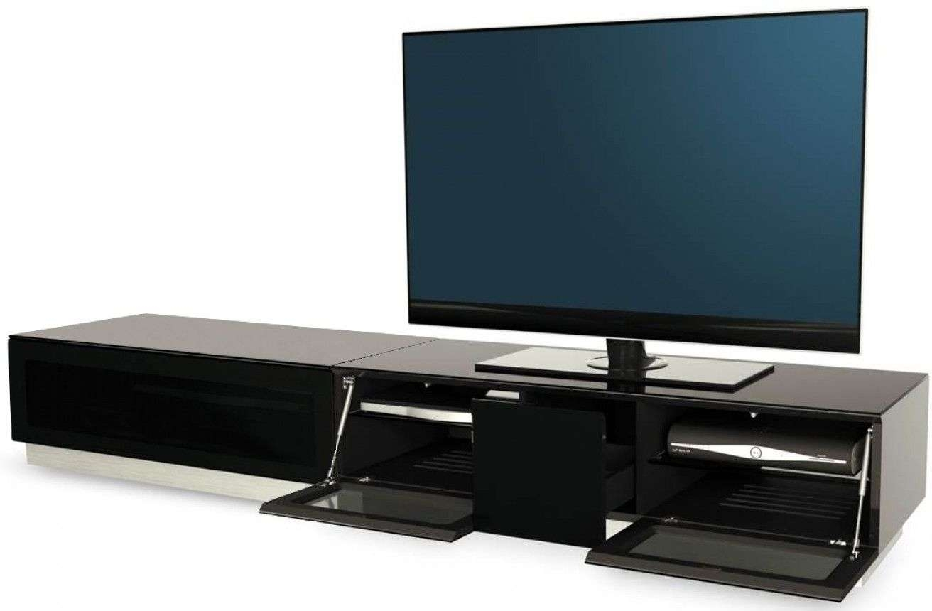 Buy Alphason Element Black Tv Cabinet – Emtmod2100 Blk Online – Cfs Uk For Tv Cabinets Black High Gloss (View 5 of 20)