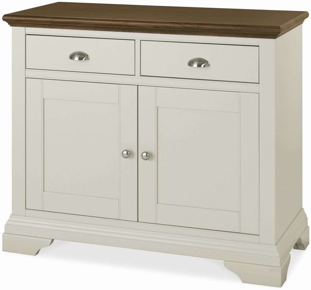 Buy Bentley Designs Hampstead Soft Grey And Walnut Sideboard Throughout Narrow Sideboards (View 3 of 20)