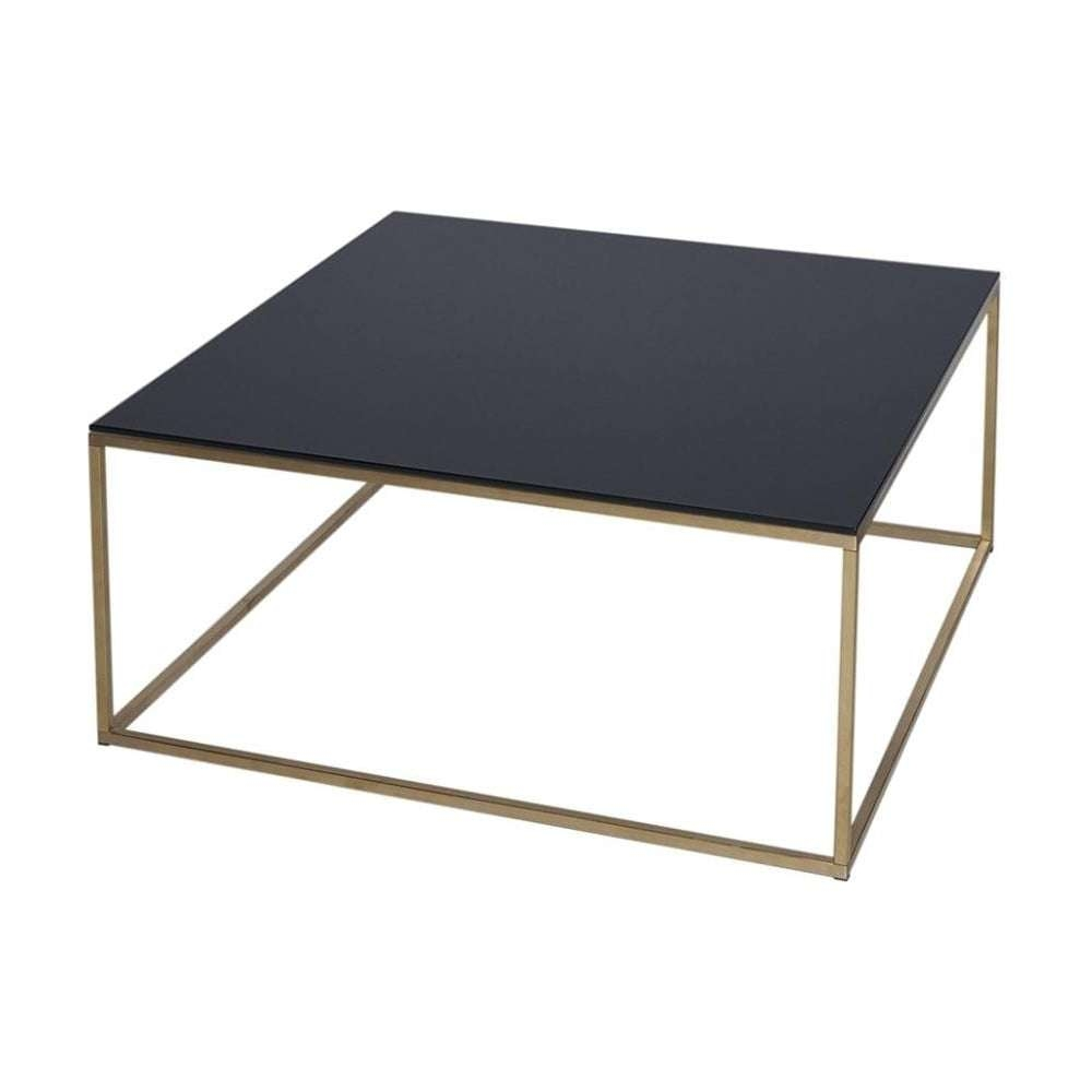 Buy Black Glass And Metal Square Coffee Table From Fusion Living Within 2018 Square Black Coffee Tables (View 2 of 20)
