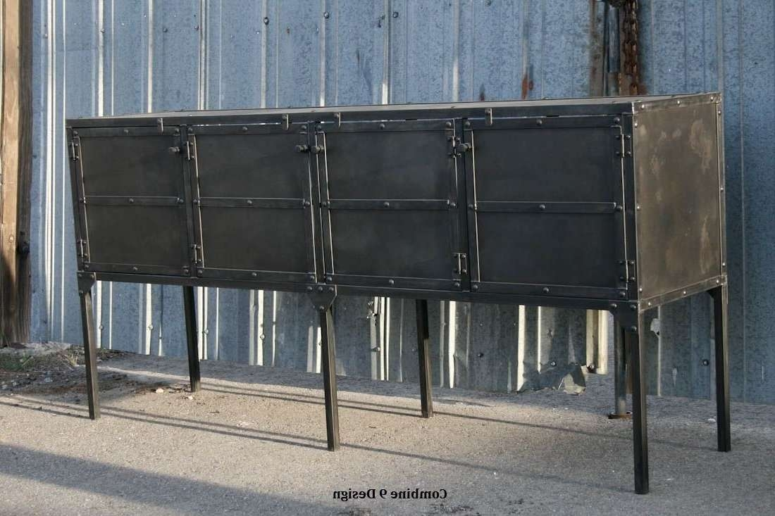 Buy Custom Buffet/hutch, Modern Industrial, Mid Century, Sideboard Throughout Industrial Sideboards (View 3 of 20)