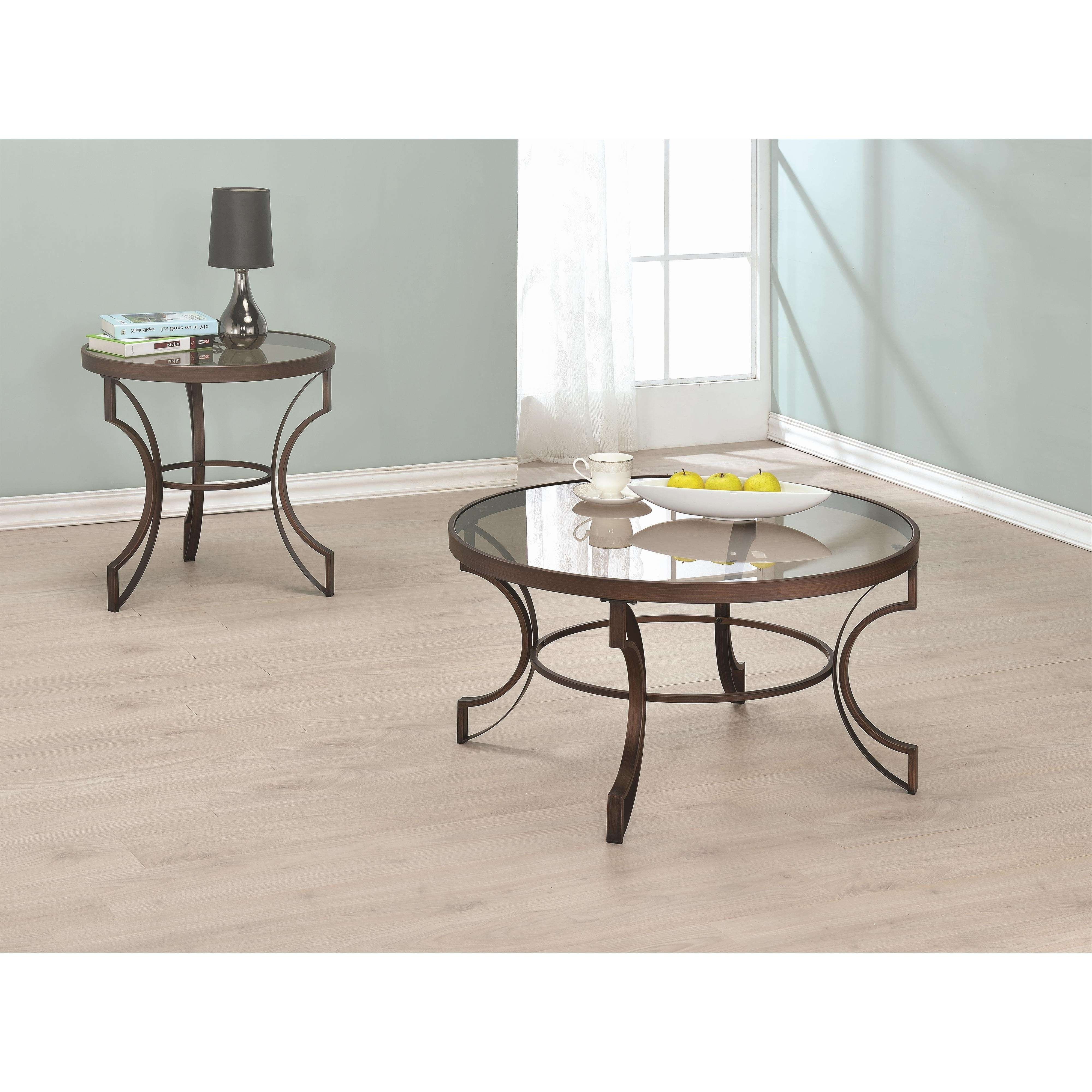 Buy Fairhaven Round Coffee Table With Bronze Metal Frame With Most Popular Bronze Coffee Tables (View 14 of 20)