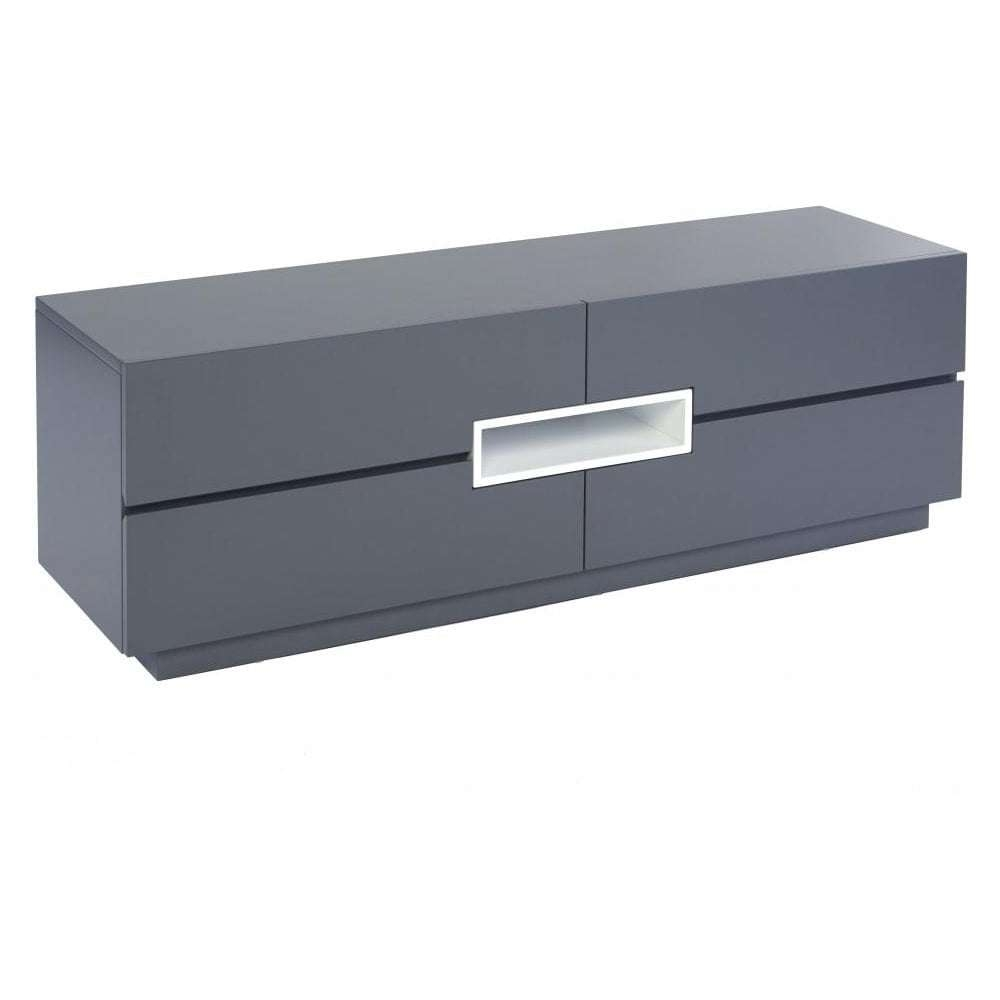 Buy Gillmore Space Grey And White Low Tv Sideboard From Fusion Living Intended For Tv Sideboards (View 1 of 20)