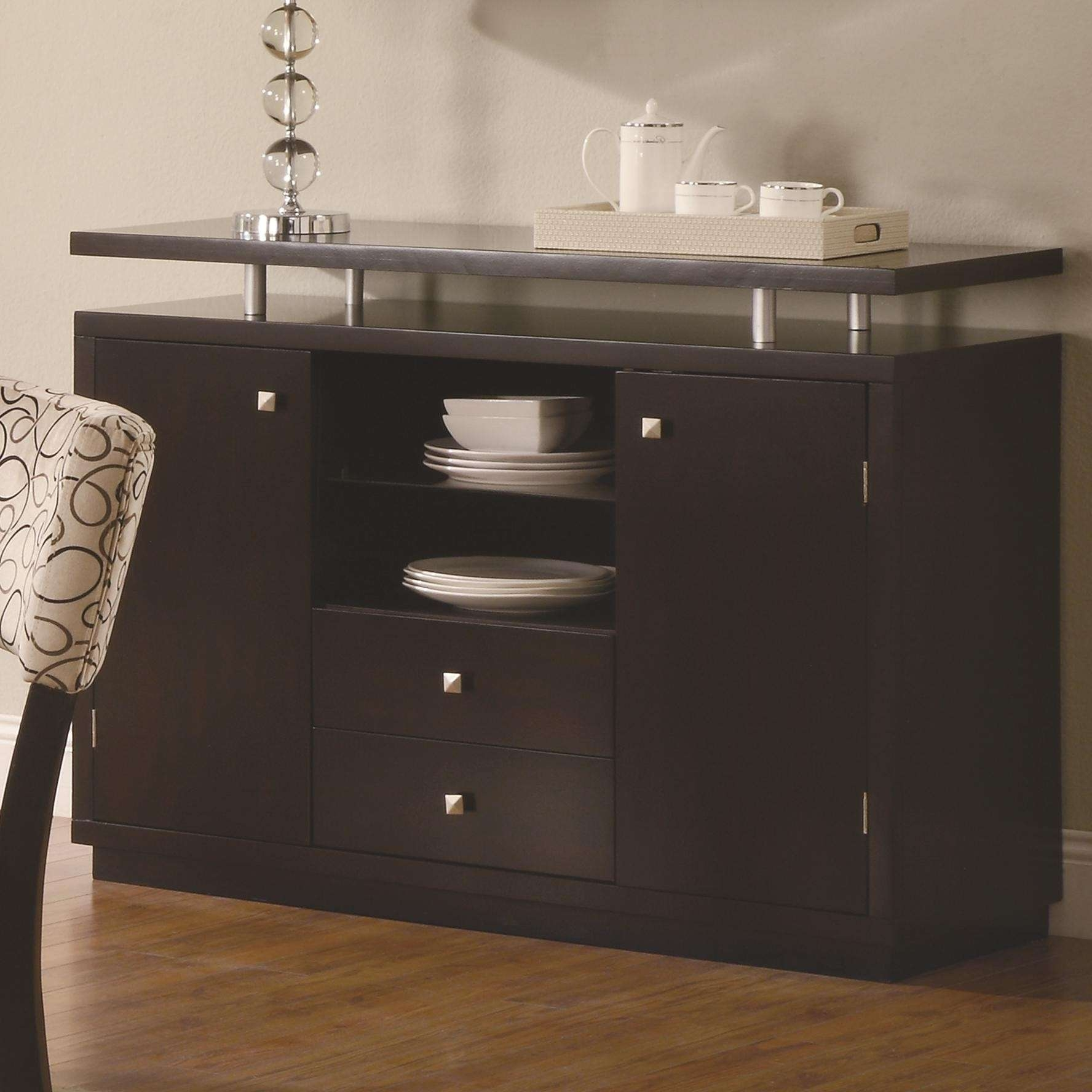 Buy Libby Two Door Dining Server Buffet With Floating Top Regarding Server Sideboards Furniture (View 3 of 20)