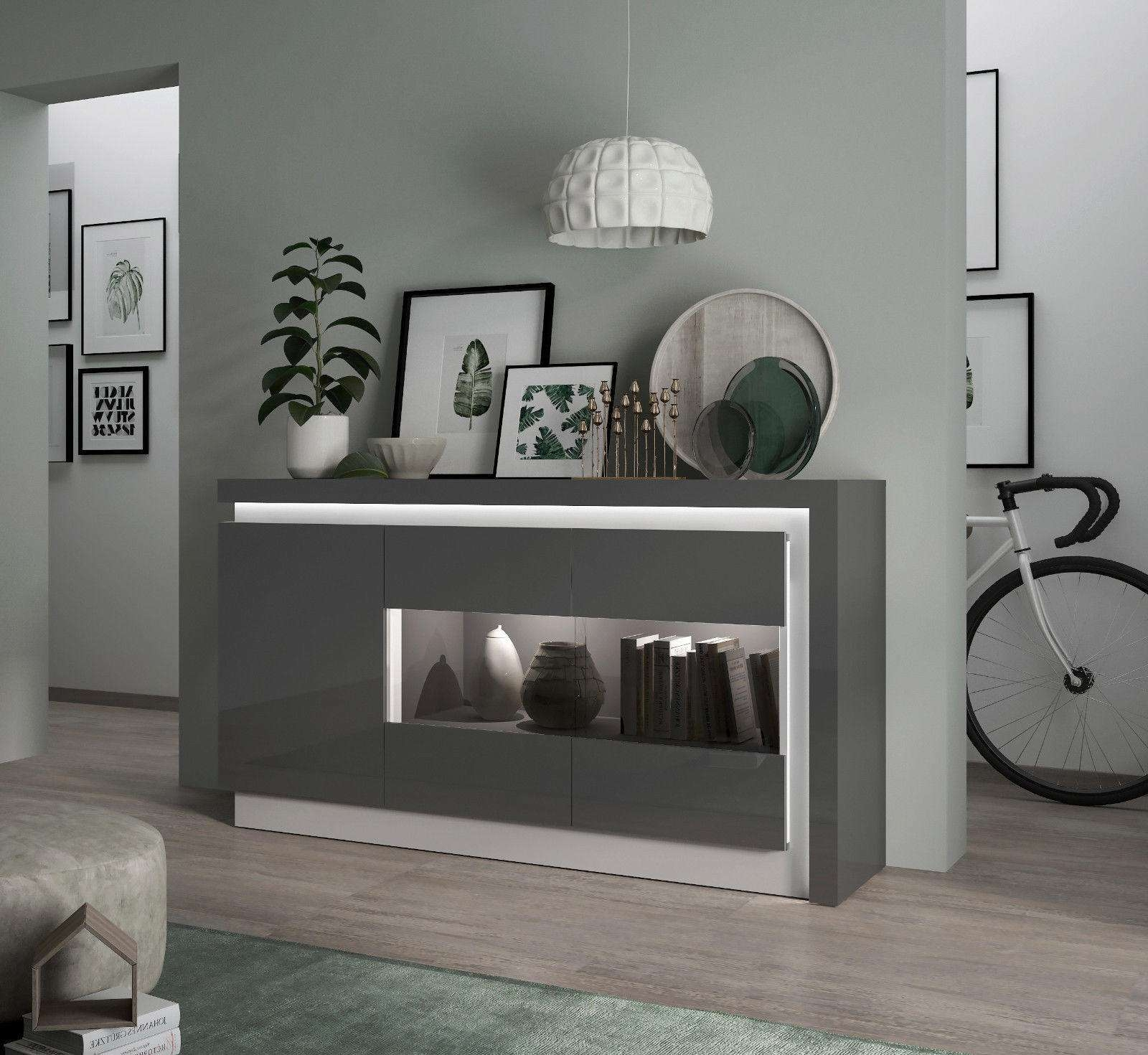 Buy Oak, Painted, High Gloss And Modern Sideboards At Furniture Throughout Uk Gloss Sideboards (View 4 of 20)