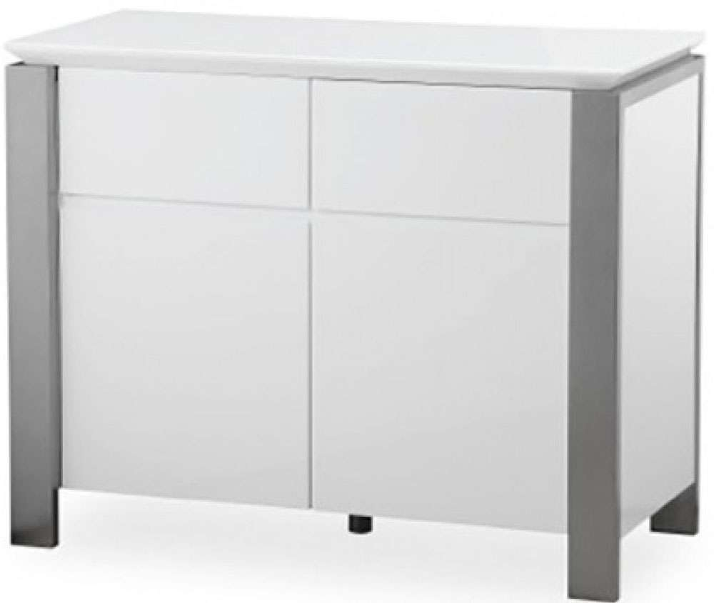 Buy Pella White High Gloss Small Sideboard Online – Cfs Uk With Regard To High Gloss Grey Sideboards (View 2 of 20)