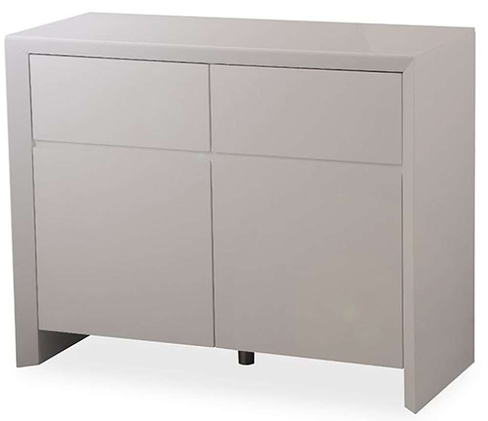 Buy Zeus Grey High Gloss Small Sideboard Online – Cfs Uk Pertaining To High Gloss Grey Sideboards (View 3 of 20)