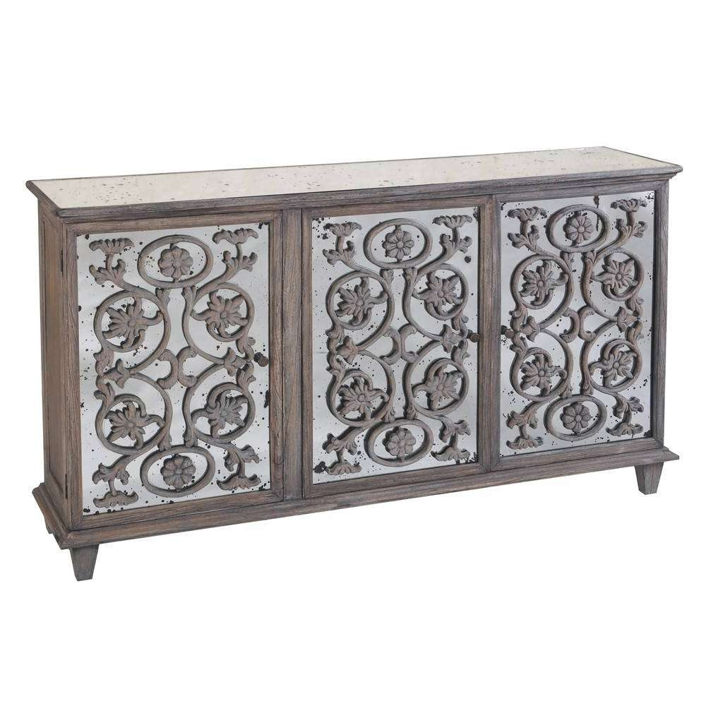 Cabinet : Furniture: Contemporary Version Of Distressed Sideboard Throughout Black And Silver Sideboards (View 2 of 20)