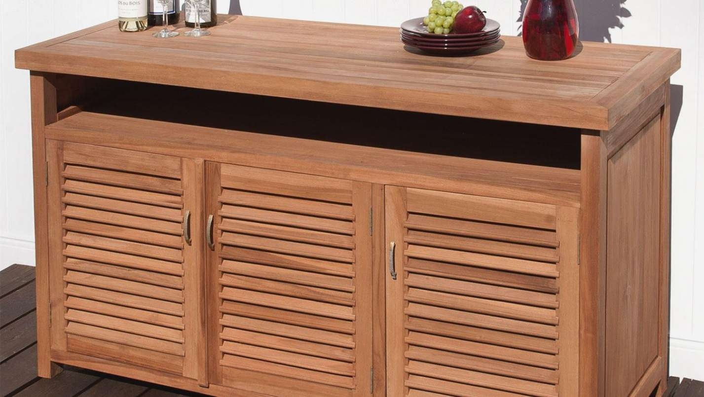 Cabinet : Pleasing Teak Outdoor Sideboards And Buffets Famous Teak With Regard To Outdoor Sideboards Cabinets (View 4 of 20)