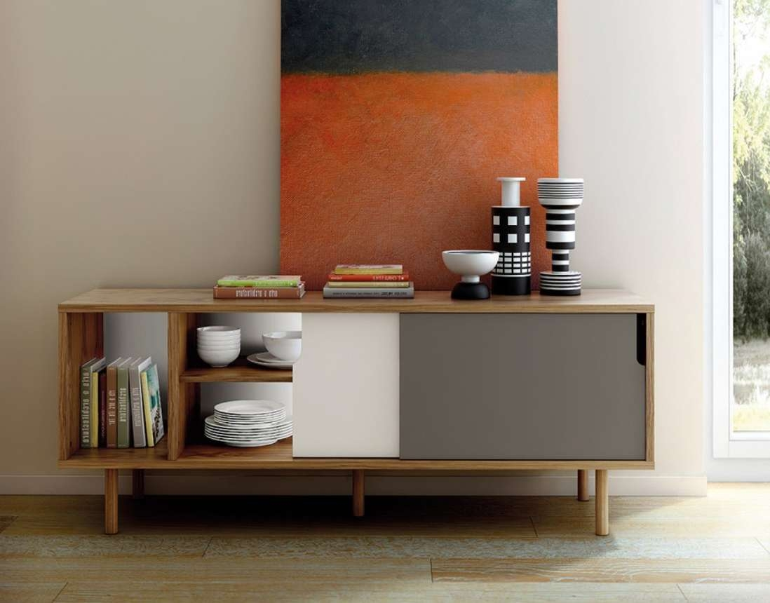 Cabinet : Trendy Mid Century Modern Sideboards Buffets Delightful Within Trendy Sideboards (View 16 of 20)