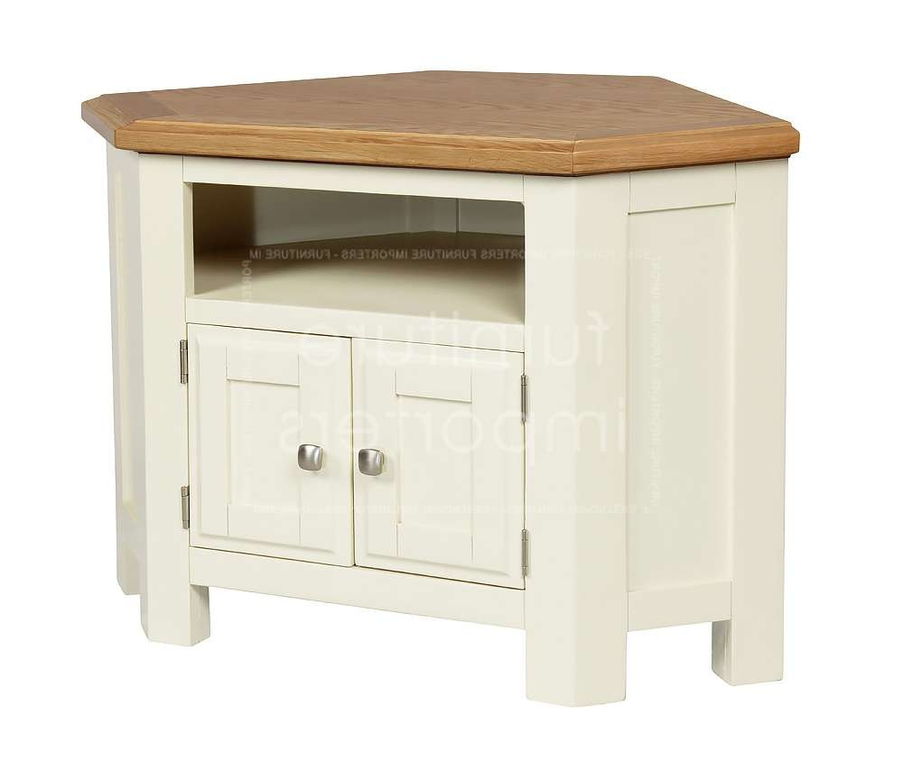 Calero Painted Corner Tv Unit | Calero Painted Range | Furniture Throughout Small Corner Tv Cabinets (View 3 of 20)