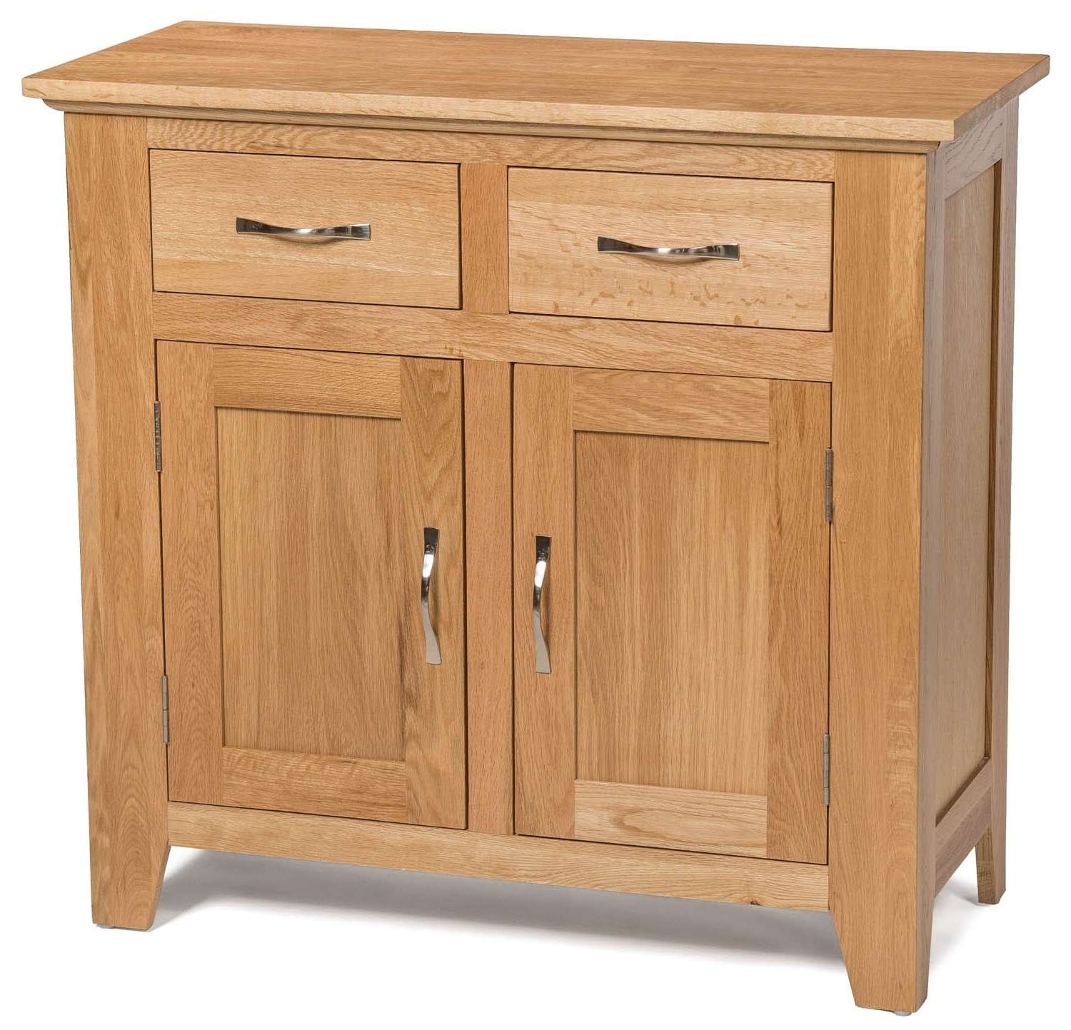 Camberley Oak Small 2 Door 2 Drawer Sideboard | Hallowood Pertaining To 2 Door Sideboards (View 4 of 20)