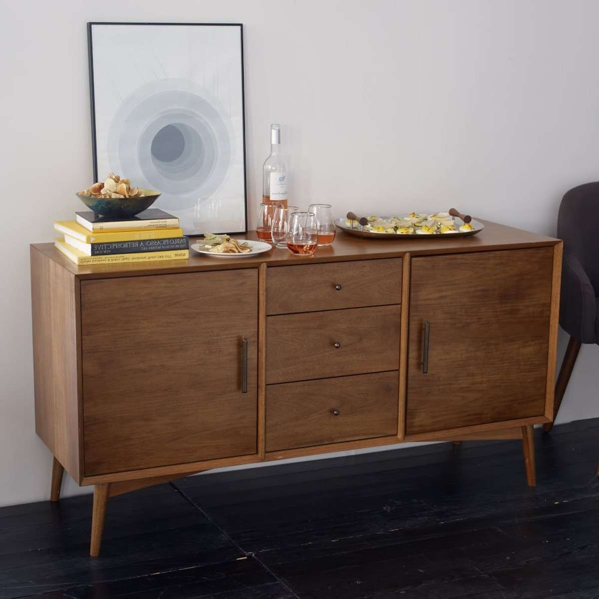 Can You Find Time With An Antique Mid Century Buffet Or Sideboard With Midcentury Sideboards (View 2 of 20)