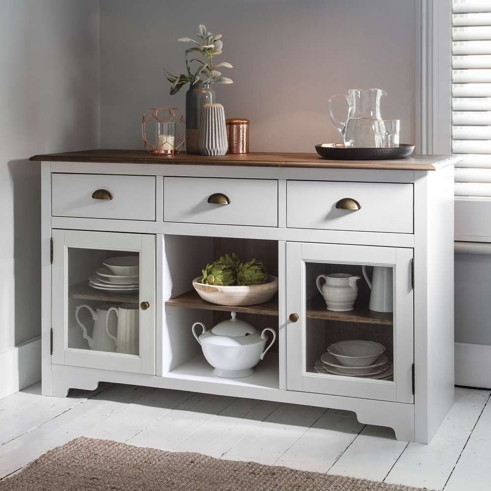 Canterbury Sideboard In White And Dark Pine | Noa & Nani With White Wood Sideboards (View 4 of 20)