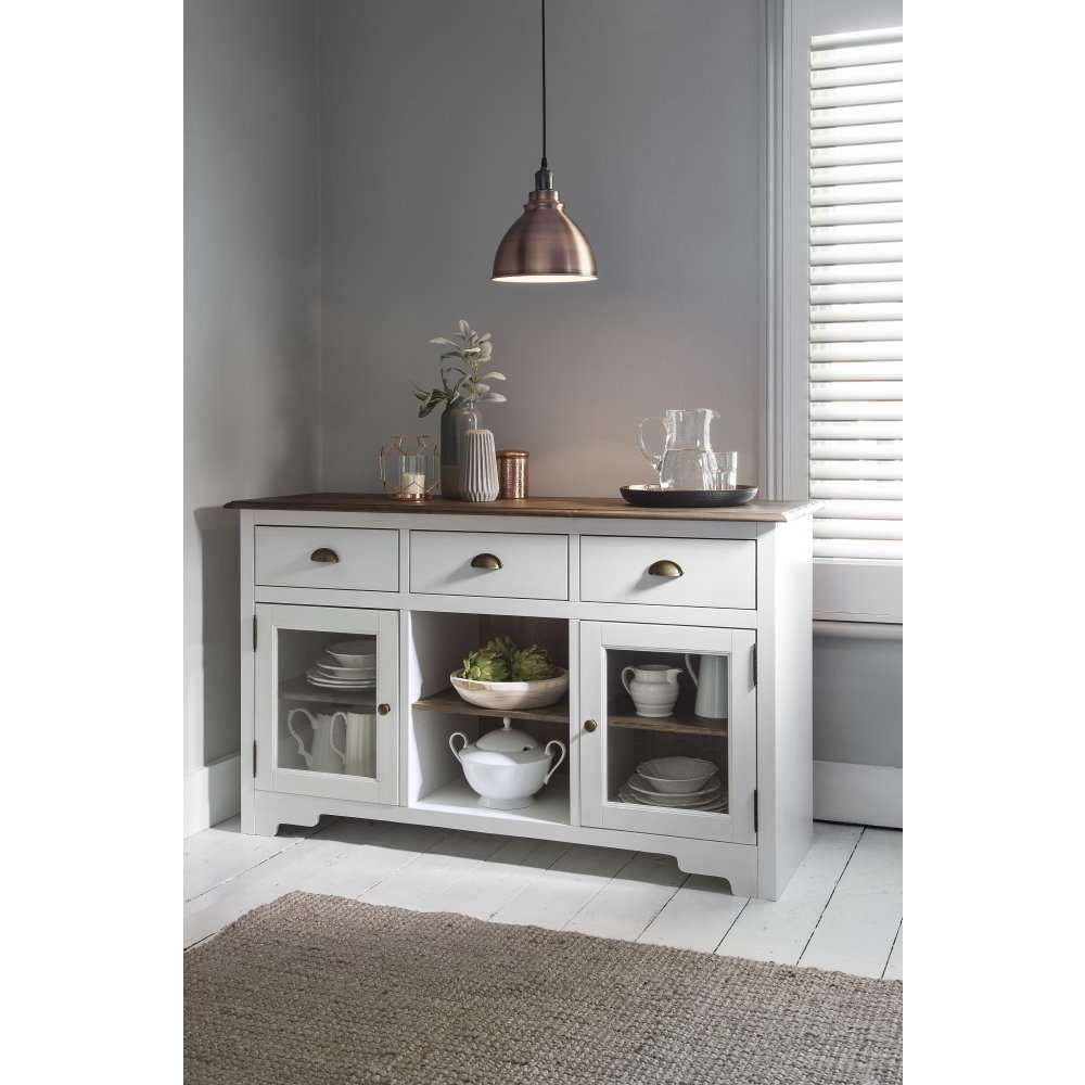 Canterbury Sideboard In White And Dark Pine | Noa & Nani Within Living Room Sideboards (View 2 of 20)