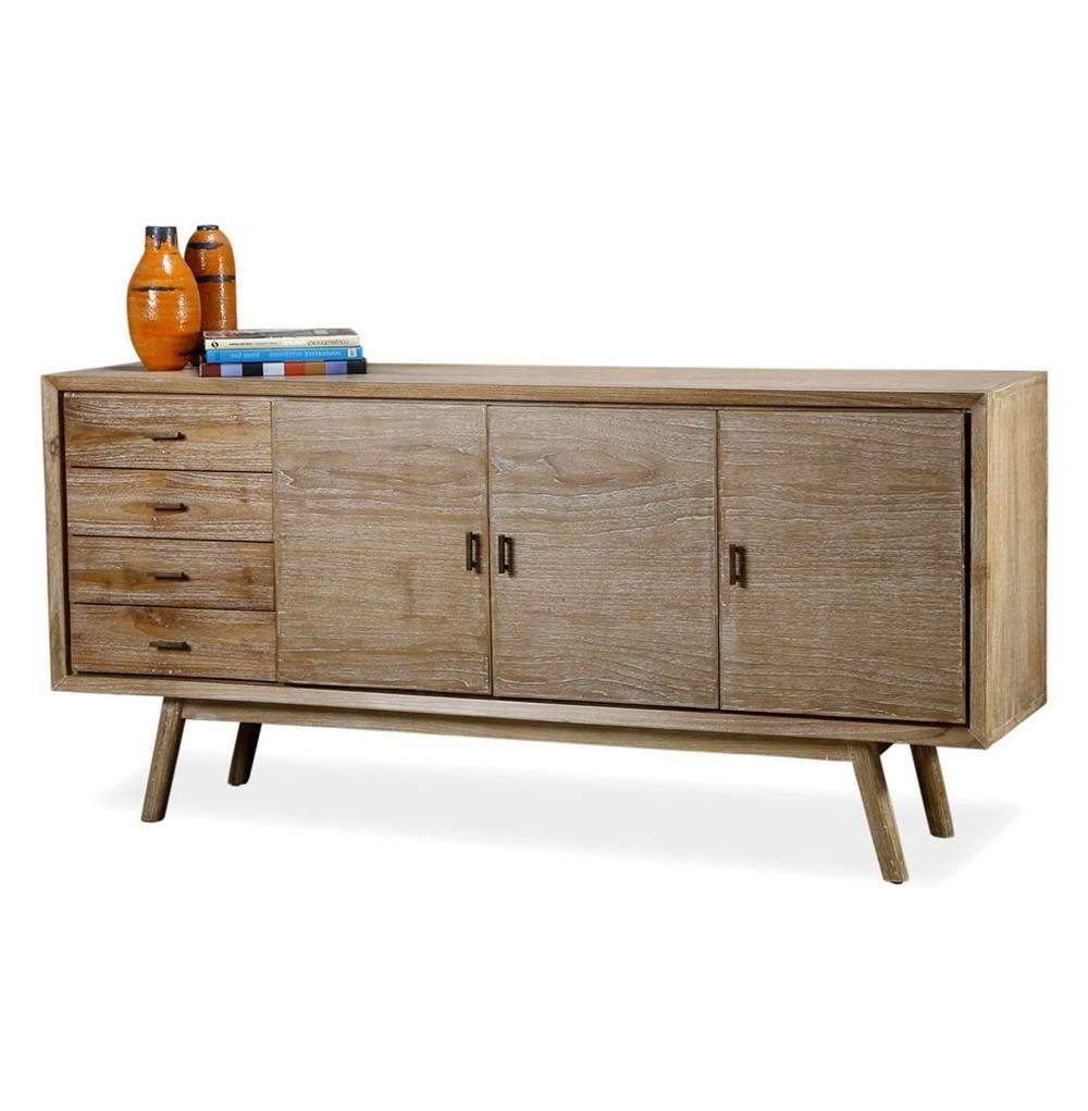 Cape Cod Whitewash Coastal Beach Modern Sideboard Media Console With Regard To Media Sideboards (View 5 of 20)