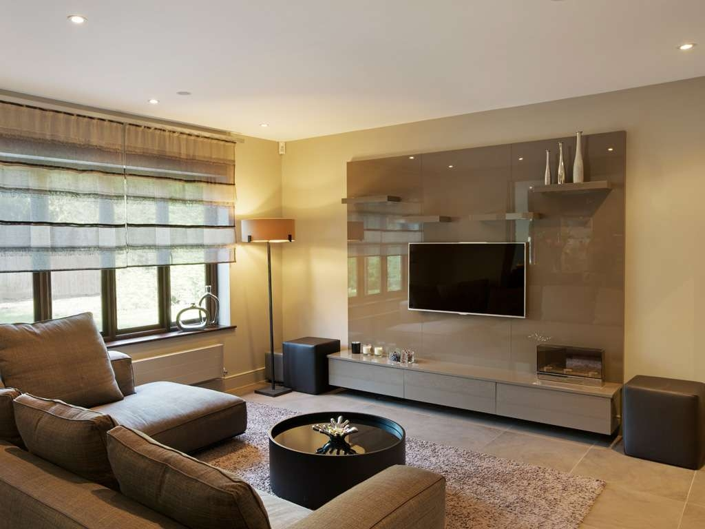 Cappuccino High Gloss Bespoke Tv Unit | Bespoke Furniture | Fitted With Bespoke Tv Cabinets (View 11 of 20)