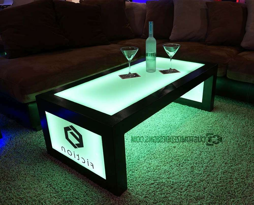 Carbon Series Led Coffee Table – Customized Designs Pertaining To Best And Newest Led Coffee Tables (View 2 of 20)