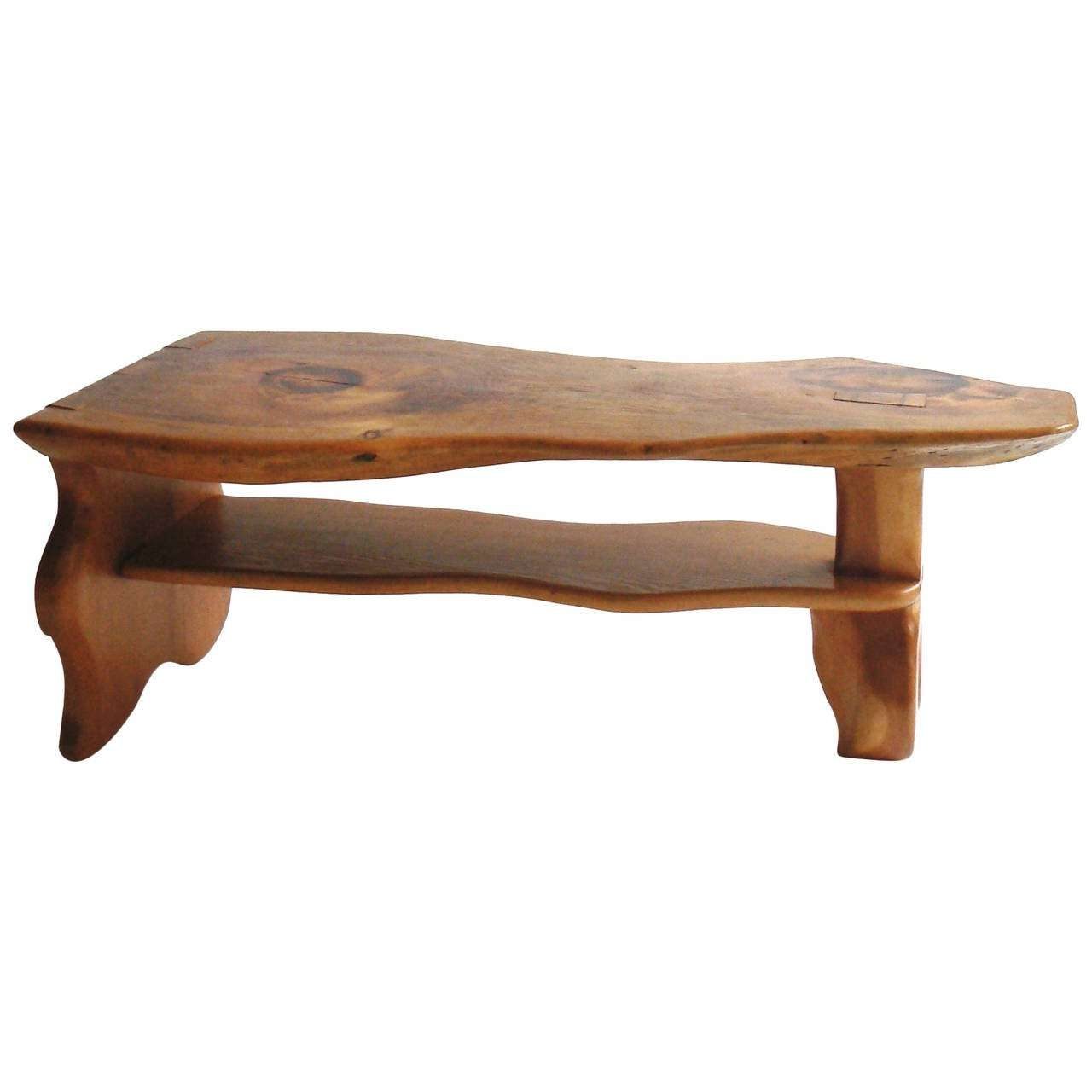 Carved Live Edge Coffee Table, Manner Of Alexandre Noll At 1Stdibs Pertaining To Well Known Live Edge Coffee Tables (View 5 of 20)