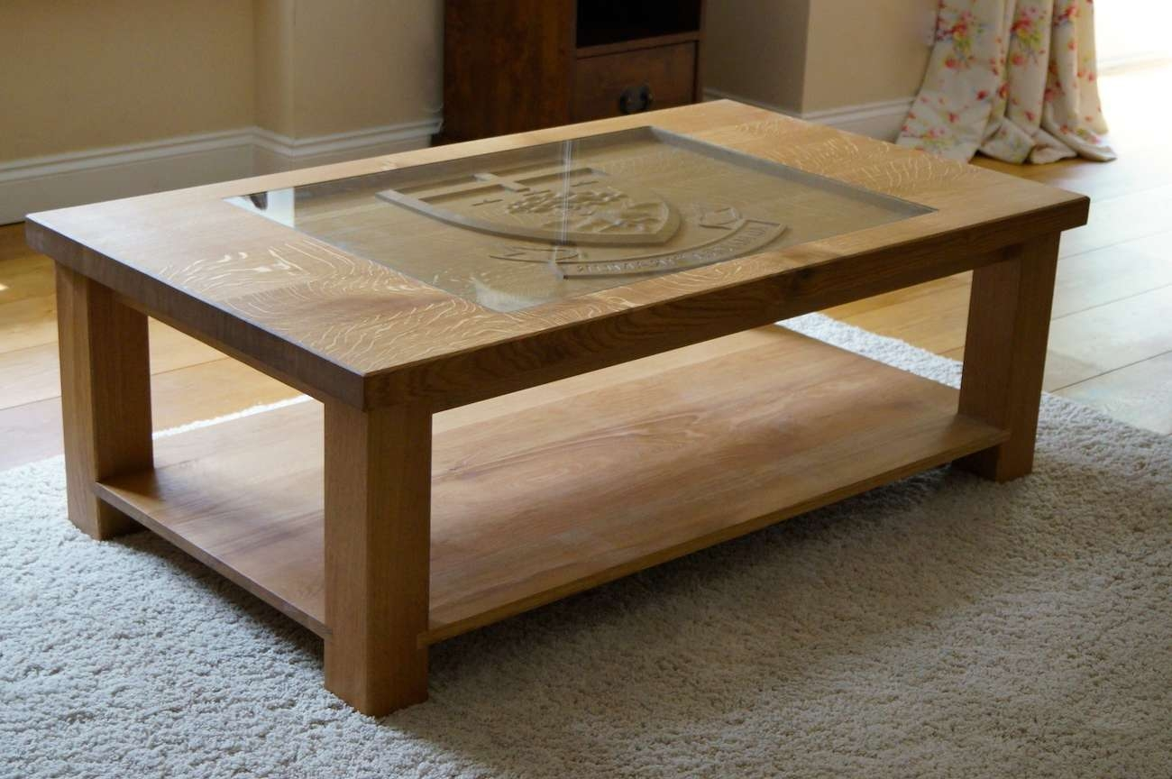 Carved Oak Coffee Table (View 4 of 20)