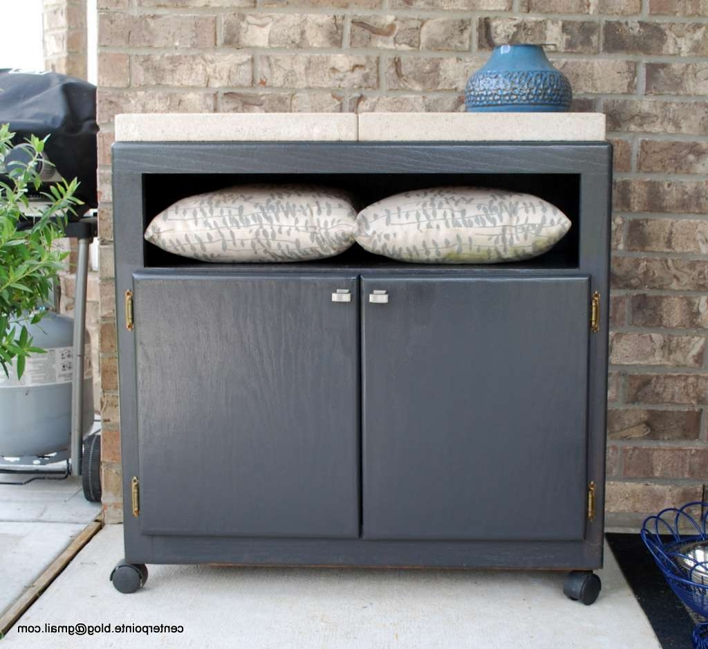 Centerpointe Communicator: New Use For An Old Tv Vcr Stand Throughout Outdoor Sideboards Cabinets (View 5 of 20)
