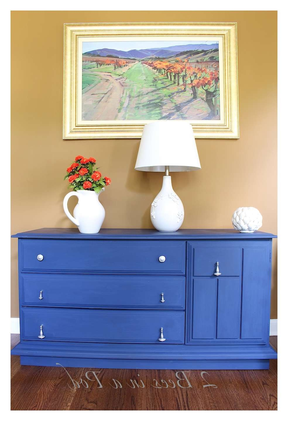Chalk Painted Buffet Makeover – 2 Bees In A Pod Pertaining To Annie Sloan Painted Sideboards (View 12 of 20)