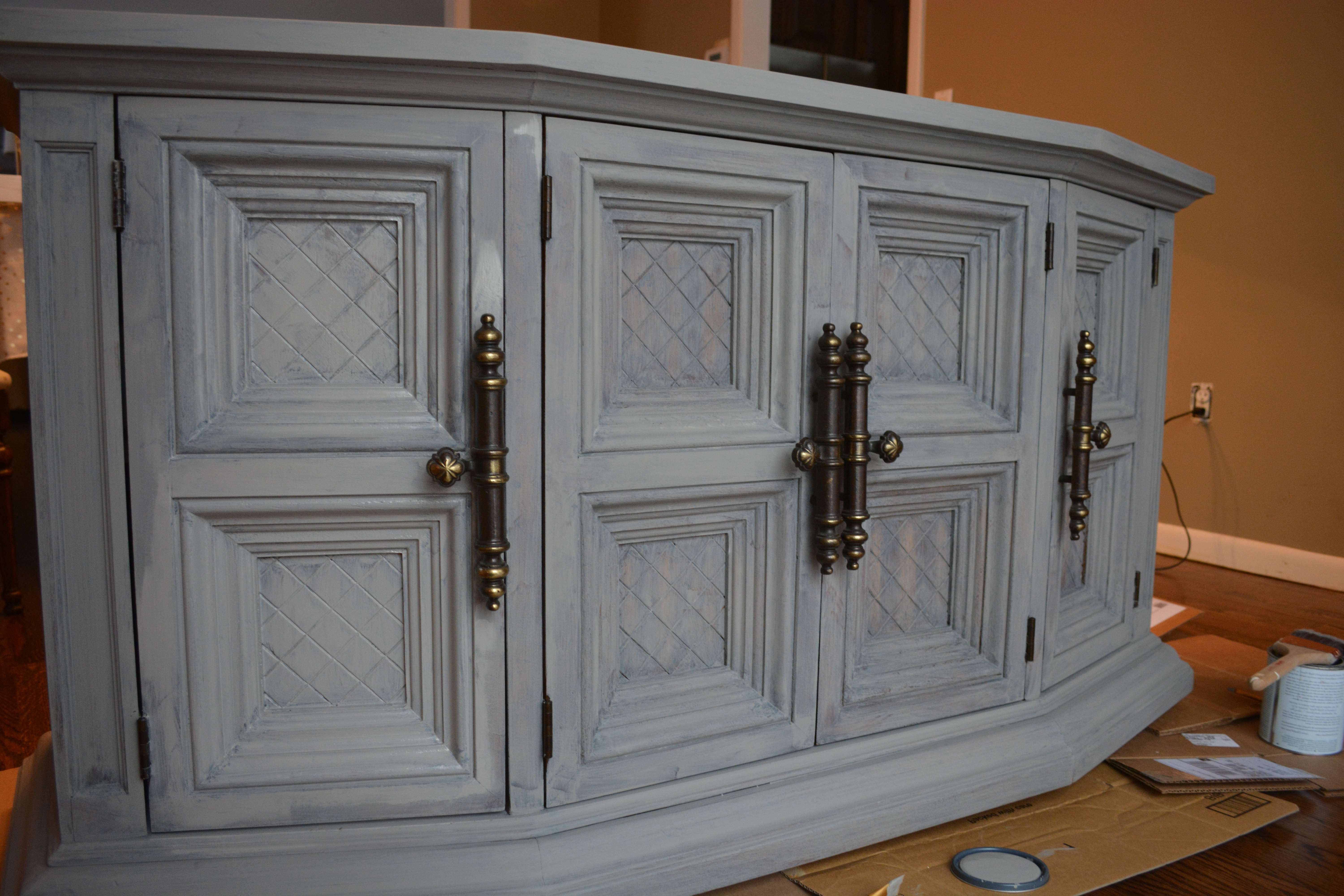Chalk Painted Buffet Makeover (Rh Inspired) Pertaining To Chalk Painted Sideboards (View 6 of 20)