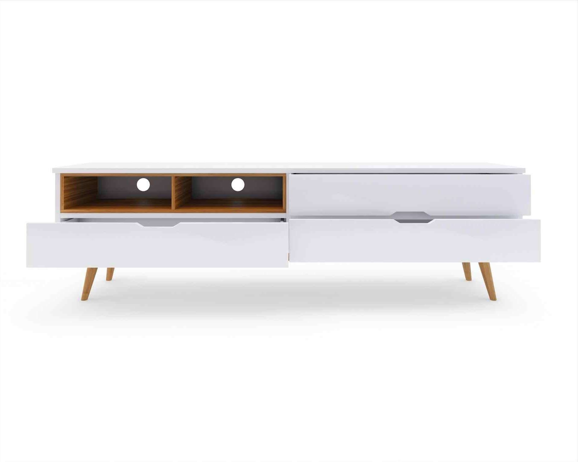 Charcoal Color Mid Century Modern Furniture Tv Stand Pop Media Regarding Media Sideboards (View 12 of 20)
