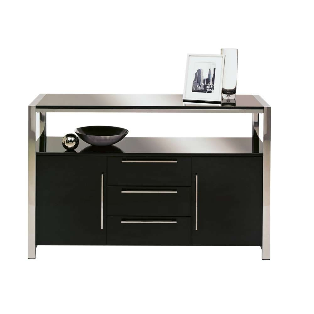 Charisma Sideboard Black Gloss At Wilko Inside Black Sideboards (View 9 of 20)