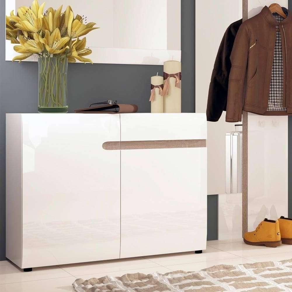 Chelsea White Gloss Sideboards | Sideboards Online – Zurleys Uk With 2 Door Sideboards (View 17 of 20)