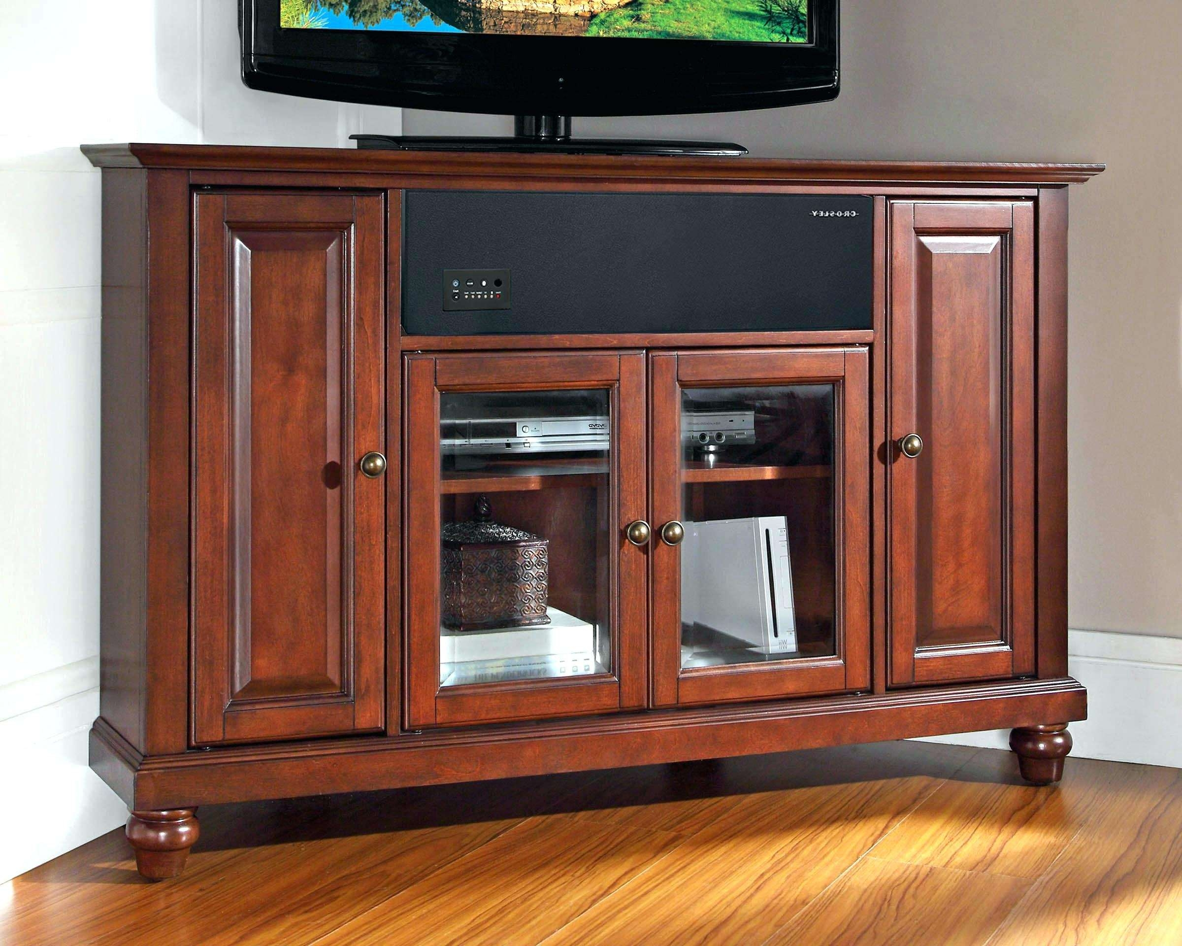 Cherry Wood Corner Tv Cabinet • Corner Cabinets With Cherry Wood Tv Cabinets (View 4 of 20)