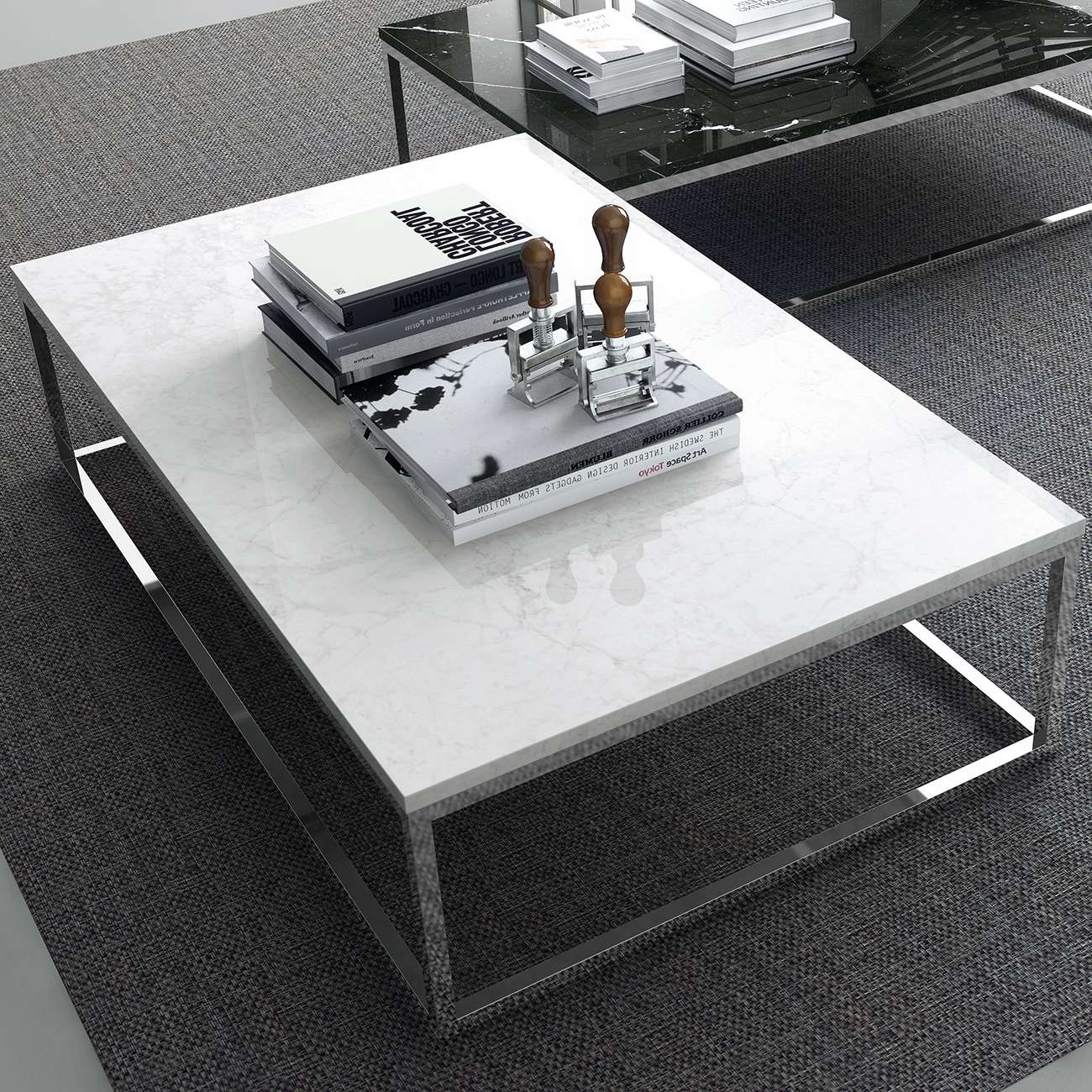 Chrome Legs, Tema Home Throughout Well Liked White And Chrome Coffee Tables (View 2 of 20)