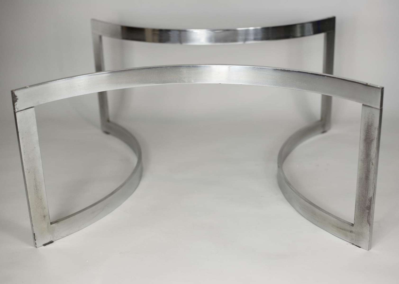 Chromed Steel And Thick Glass Coffee Table From Dassas, 1963 For For Most Up To Date Thick Glass Coffee Table (View 4 of 20)