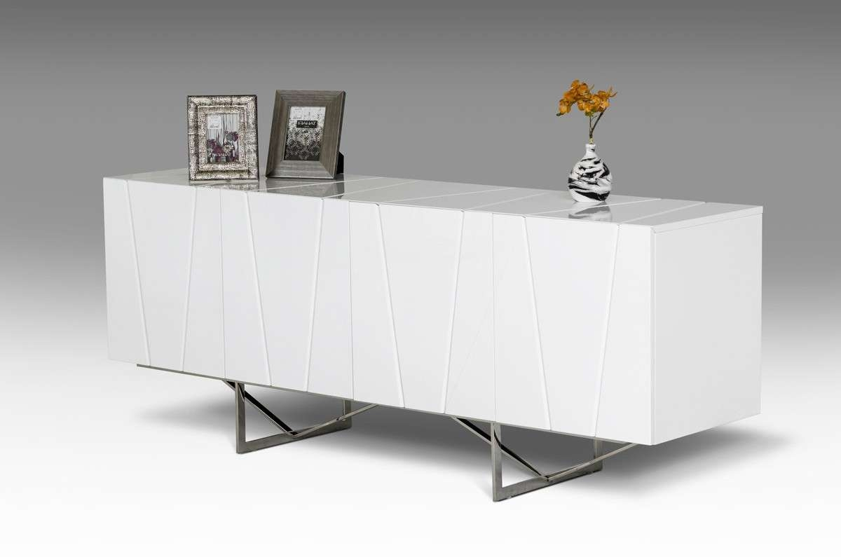 Chrysler White High Gloss Buffet | Las Vegas Furniture Store With Regard To White Modern Sideboards (View 13 of 20)