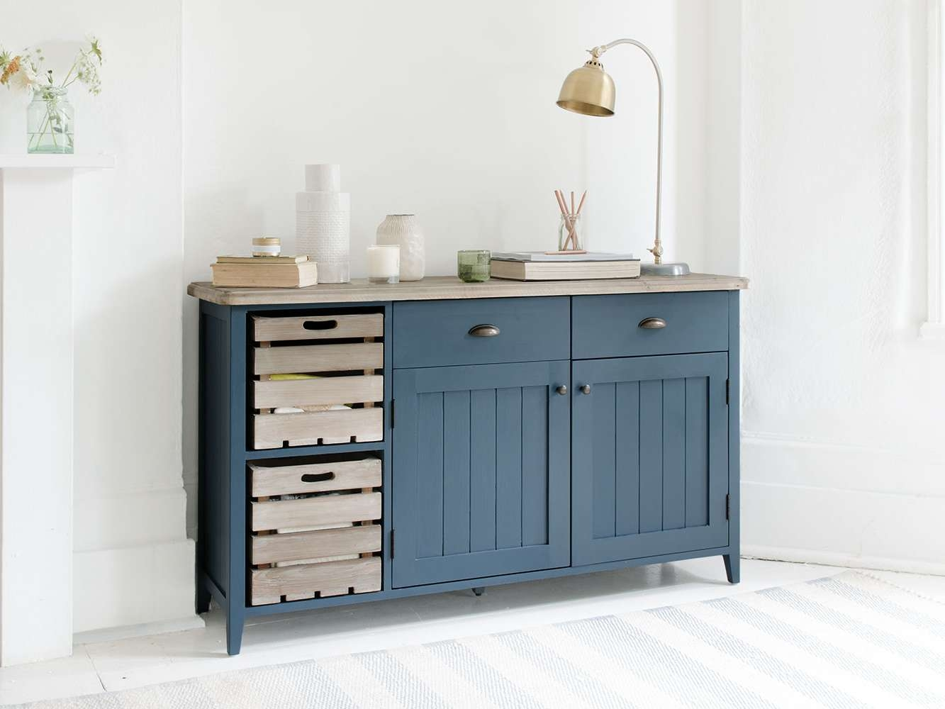 Cidre Sideboard In Inky Blue | Painted Sideboard | Loaf With Regard To Painted Sideboards (View 2 of 20)